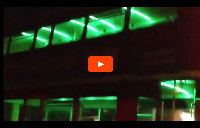 LED lighting on Bus